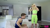 """""""We're Just Supposed to Be Stretching"""" Jessie Saint Stretched By Step Bro - VideoMakeLove.Com"""