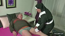 Screenshot German Milf Nun Fuck With Stranger Old Man