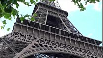 Extreme public sex threesome by the world famous Eiffel Tower in Paris France