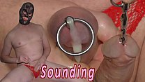 Sounding With Cumshot  Urethral Inserting Toy K