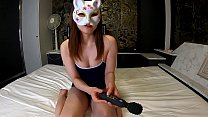 Japanese young fox masturbates with dildo and vibration. Asian girl with cute tits moans loudly with sex toys and gets orgasm. Sakura1 Osakaporn