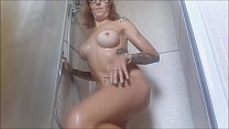14277 I really need to have a nice shower, but first I have to massage my big tits for a long time and undress all preview