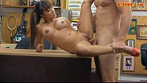 Asian babe drilled by pawnshops owner