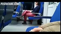 Sucking in public in the tube Preview