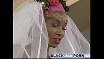 Ebony bride gets pounded by best man white dong porn thumbnail