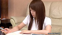 Nazuna Otoi rubbing her wet cunt with a sex toy