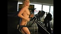 Naked Exercise Treadmill running