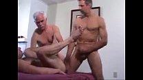 three hot older guys fuck