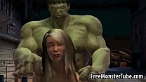Foxy 3D babe gets fucked by The Incredible Hulk-high 2 pornhub video