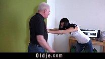 Image: Horny teen mistress closeup fucking old cheating husband takes facial