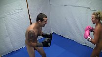 Dre Hazel defeats guy in competitive nude boxin...