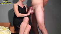 13555 Femdom handjob and 2 cumshots on legs preview