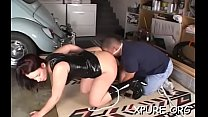 Hot dominas making him choke on their juicy wet cracks