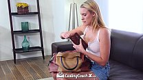 CastingCouch-X - Cute blonde Cali girl Cosima Knight first audition thumbnail
