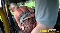 Fake Taxi Blonde babe horny tourist masturbates and fucks in cab