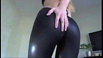 Shiny Black Leggings image