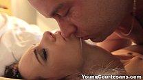 Young Courtesans - A perfect cum-shot first sex job Eveline Neill teen porn