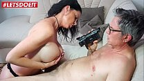 LETSDOEIT - Busty German Wife Cheats And Fucks Her Boss On Tape