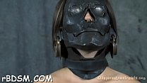Tough gal is gagged up and caned zealously