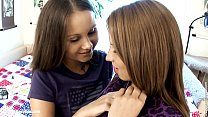 Young girls Dulce and Malin from Sapphic Erotica lesbian fuck with a dildo on th pornhub video
