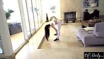 Busty Asian Jade Kush Fucks Roommate In Yoga Pa...