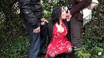 Trio et anal pour Sabrina la jeune beurette thumbnail
