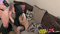 FakeAgentUK Sexy stocking clad Liverpool girl spreads legs in casting thumbnail