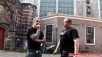 Real dutch hooker plowed in Amsterdam