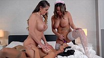 2 Horny French maids caughty by Milf Boss Fucking Thumbnail