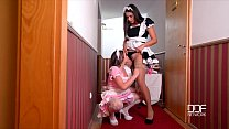 2 Horny French maids caughty by Milf Boss Fucking Image