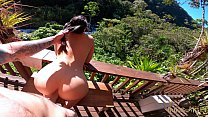 OUTDOOR Creampie & Deepthroat With A Drone In T