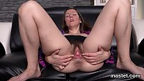 Foxy czech nympho gapes her spread cunt to the peculiar