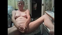 Skinny grandmother Christie, 64 years old, is cheating on her husband while he is at work, she is with me on Skype, cam444.com's Thumb