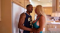 Horny MILF takes on 2 basketball studs on Black...