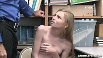 Busted shoplyfter Ava Parker blowjob the LP Officer!