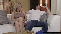 Sexy Tbabe blonde sucks and analed by bf