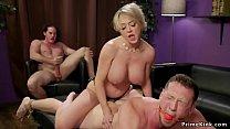 Huge tits wife anal bangs husband threesome