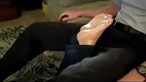 hot mom footjob**what is her name plz** Thumbnail