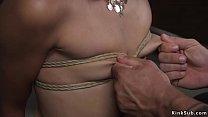 Strong master fucks small tits slave