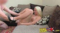 FakeAgentUK Multiple orgasms from petite blonde on casting couch Vorschaubild