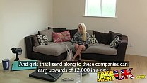FakeAgentUK Multiple orgasms from petite blonde on casting couch Image