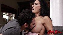 Busty MILF Raegan Foxx rides cock before taking a creaming Image