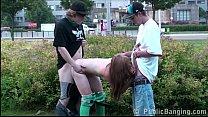 Hot teen Alexis Crystal PUBLIC gangbang orgy wi... Thumbnail
