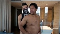 Masked Latin Thug Fucks Black Dad