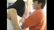 japanese grouping - fun in the bus -  uncensored image