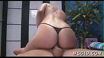 Charming massage girl in black lingerie likes to ride large cocks