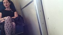 Atrractive female Bulge Watching on the Train porn thumbnail