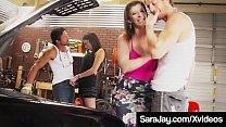 Famous PAWG Sara Jay & Dava Fox Share 2 Lucky Hard Cocks!'s Thumb