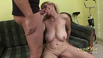 German - Old Wife with saggy tits blowing and fucking young guy Vorschaubild