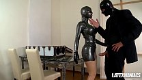Latex Goddess Latex Lucy gets Boxed & Fucked Hard's Thumb